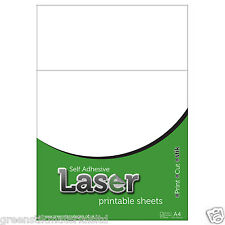 10 A4 Self Adhesive Laser Printable Gloss White Plastic Film Sticker Art Sheets