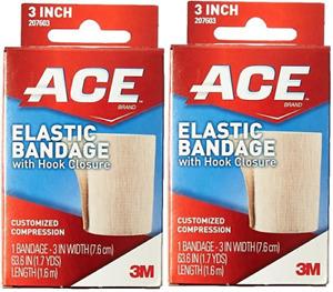 ACE BANDAGE HOOK-LOOP ACE 7603 ( 2 Pack)