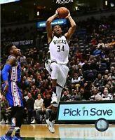 """Giannis Antetokounmpo Milwaukee Bucks NBA Action Photo (Size: 8"""" x 10"""")"""