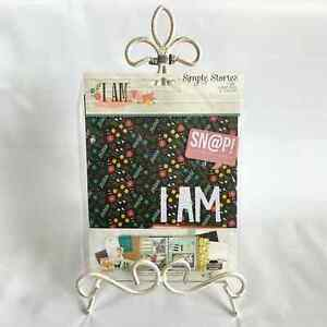 Simple Stories I Am Scrapbook Kit Snap Binder Album Pages Envelope 6x8 NWT