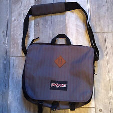 Jansport Shoulder Tote school laptop bag gray and black preowned