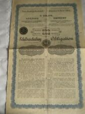Vintage share certificate Stocks bonds action Austrian state railways obligation