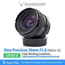 ⭐SERVICED⭐ KIRON 28mm F2.8 NIKON AI Fit Kino Precision Full Frame+Caps [GRADE B]