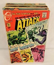 Lot of 27 Bronze Age Charlton War Comics Attack Fightin' Army Marines Navy +