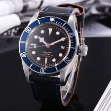 41MM Corgeut blue Bezel Black Bay Sapphire Glass Luminous Automatic mens Watches