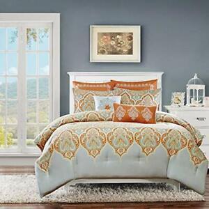 Madison Nisha Comforter Set King/California King Orange