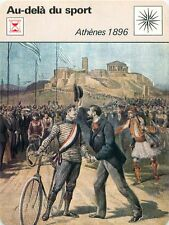FICHE CARD Jeux olympiques de 1896 Athènes Games of the I Olympiad Athens 70s