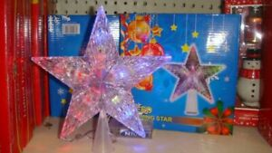 LED  Tree Topper Star Christmas Decorations Top Xmas US PLUG ~HOLIDAY