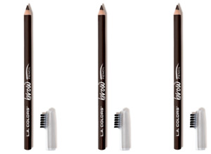 L.A. COLORS Matte Dark Brown Brow Pencil Set 3 Pack Smooth Gliding FREE SHIPPING