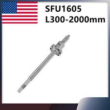 Ball Screw Sfu1605 300 2000mm End Machined Ballscrew With Single Ballnut For Cnc