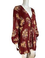 DONT ASK AMANDA Large Ladies Top Dress Long Sleeve Nursing Mums EUC Boho Floral