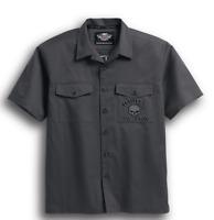Harley-Davidson Men's S/S Skull Garage Shirt - 99028-17VM