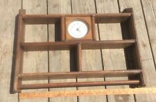 Wood Knick  Knack Shelf With Clock , Vintage Shelf ,