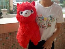 New Alpacasso Red Alpaca 45cm Plush Amuse Arpakasso Fluffy Toy Gift Large