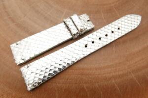19mm/16mm Silver Genuine PYTHON Skin Leather Watch Strap Band