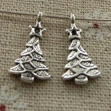 free ship 160 pieces tibetan silver Christmas tree charms 20x11mm #3590