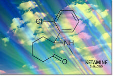 KETAMINE MOLECULE ART SPECIAL K PHOTO PRINT POSTER - 12 X 8 INCH   A+ QUALITY