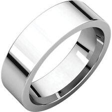 6mm Solid Platinum 950 Plain Flat Design Comfort Fit Wedding Band Ring Size 11