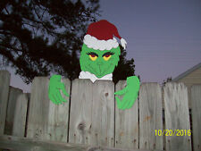 GRINCH FENCE PEEPER CHRISTMAS YARD ART WOODWORKING PLANS PATTERNS BOOTS BOHO