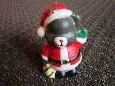 Vintage Christmas Candy Santa Teddy Bear Displayed but unlit Free Ship