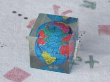 Vintage 360° Acrylic Mini Globe Earth Map Globe World Geography Home Desk Rare