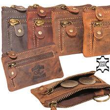 Vintage Leder Schlüsseltasche Schlüssel Tasche Etui Damen Herren 4 Farben