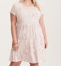 Torrid Multi-Color Ikat Print Jersey Babydoll Dress 0X #58883