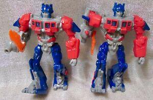 "McDonald's Hasbro Transformers Optimus Prime 4 1/4"" Figure   2010 (Lot of 2)"