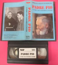 VHS film PADRE PIO L'UOMO CHE CONOBBE IL PATIRE Immagini inedite (F142) no dvd