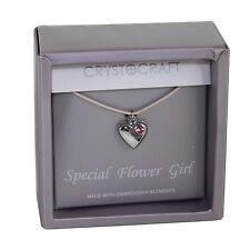 Collier Cadeau de Mariage-Coeur Charme notre spéciale Flower Girl