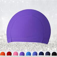 Unisex Polyester Swimming Men Women Adult Swim Spandex Fabric Easy Fit Hat Cap
