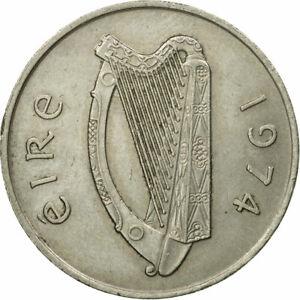 [#549049] Coin, IRELAND REPUBLIC, 10 Pence, 1974, VF(30-35), Copper-nickel