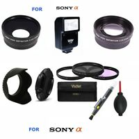 40.5MM 3 LENS +FILTER KIT +FLASH + GIFTS FOR FOR Sony Alpha A5000