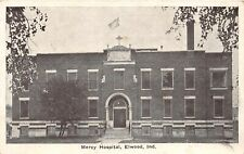 G83/ Elwood Indiana Postcard c1910 Mercy Hospital Building