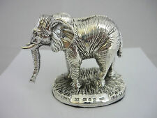 Impresionante caracteriza plata esterlina Estatua/Figura/Escultura De Elefante