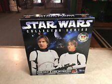 """1998 Kenner Star Wars Collector Series 12"""" HAN & LUKE STORMTROOPER DISGUISE NIB"""