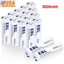 EBL 16pcs AA Lithium Batteries 1.5V 3000mAh Battery Storage Include Long-lasting