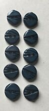 10 x Dark Turquoise Buttons  Sewing Craft 2 hole 11mm