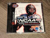 NCAA 2k2 College Football Sega Dreamcast Complete CIB Tested Authentic