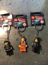 Lot of 3 Lego Movie Minifigures​ Keychain Bad Cop Emmet Wyldstyle minifigs Gift