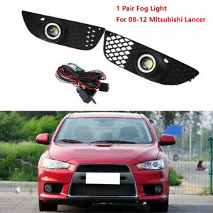 For 08-12 Mitsubishi Lancer Fog Lights Lamp New Bumper Driving Clear & Wiring