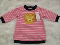 Gymboree Baby Girls Pink Long Sleeve Striped Sweater Dress Size 3-6 Mo NEW