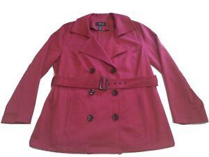 Style & Co. Women's Fuschia Knit Double Breasted, Belted Blazer