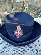 Vintage Girls Brigade Leaders Fur Felt Black Hat 'The Ridgemont Make' Circa 1960