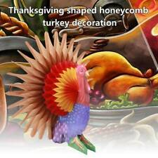 THANKSGIVING Party Table Decoration HONEYCOMB TURKEY CENTERPIECE NEW