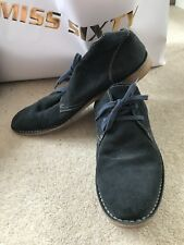 Mens Office Navy Blue Suede lace-up Size 10 UK