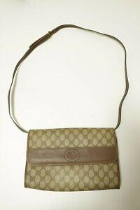 Authentic Vintage Gucci Canvas PVC Shoulder bag Crossbody  #8717