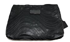 MARC JACOBS CHARCOAL GRAY 'SLASH' LEATHER CLUTCH, $595