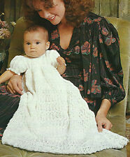 Baby Heirloom Christening Knitting Pattern Long & short Dress Matinee Coat 579
