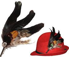 Hutfedern für  Hut  echte Federn mit Zierhülse Hutschmuck für Damenhut